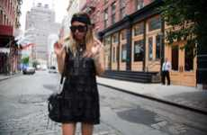 Badass Flapper Dresses - Rumi Neely in a Vintage Leather Dress in NYC's Soho