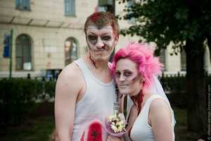 Vitalich and Jirka's Zombie-Style Wedding is Their Third Marriage