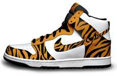 Tigger-Inspired High Tops - The Nike Shoe Color-Way Designs by Andrew Chu Are Wild