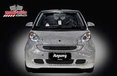 Crystal-Covered Convertibles - The Anjuny Swarovski Crystal-Covered Smart Car is a Blinged Ride
