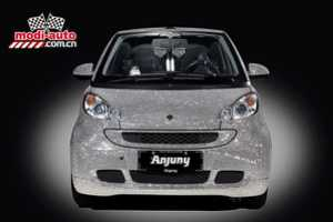 The Anjuny Swarovski Crystal-Covered Smart Car is a Blinged Ride