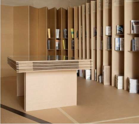 Recyclable Bookstores - The Foldaway Bookshop is Earth and User-Friendly