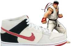 Retro Game Sneakers - The Nike Street Fighter Pack Brings Shoryuken to the Streets