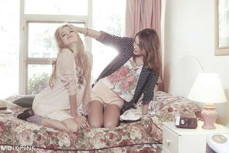 Retro Sisterly Lookbooks - The MINKPINK Spring Collection is Full of Patterned Fun