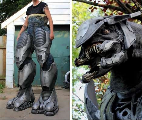 stunning animatronic Halo Elite costume