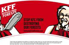 Sustainable Packaging Campaigns - Kentucky Fried Forests Demands that KFC Saves Trees