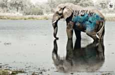 Graffitied Endangered Species - The WWF Campaign Tags the Environment for Awareness
