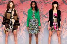 Chic Textured Fashions - The Diane von Furstenberg Pre-Fall 2010 Collection is Huetastic