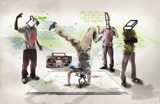Digitalized Breakdancing Art