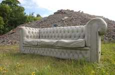 Carved Stone Couches