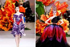 The Paris Haute Couture Christian Dior Fall 2011 Collection is Eccentric