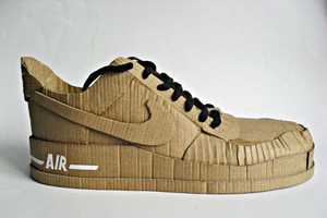 Cardboard Nike Air Shoes Can Be Mistaken for a Real Shoe
