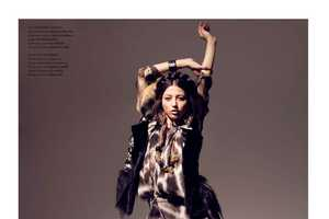Evelina Mambetova in 'Playing Fashion' July/August 2010