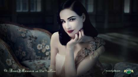 Interactive Burlesque Sites - Perrier by Dita Von Teese Will Make You Blush
