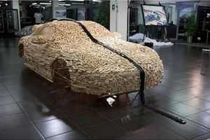 The Wooden Porsche 911 is Made of Thousands of Toy Blocks