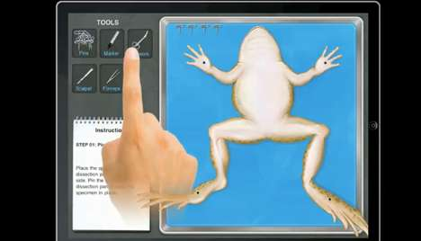 Virtual Frog Dissection iPad App