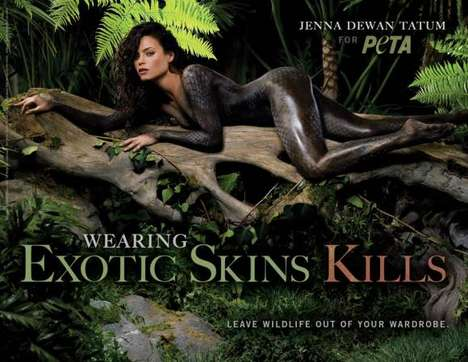 Reptilian Activists - The Latest PETA Ad Campaign Features the Fierce Jenna Dewan