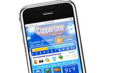 Sun Damage Detection Apps - The Coppertone MyUV iPhone App Prevents You from Burning
