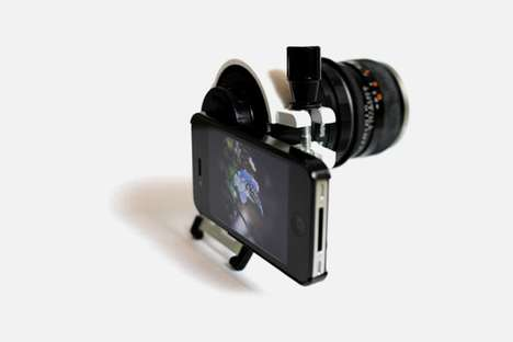 iPhone Camera Attachments - An iPhone 4 With a DSLR Lens Upgrades the Quality of Your Camera Phone
