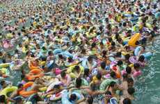 Extreme Heat Fixes - Record Breaking Heatwave in China Brings Swimmers Out in Droves