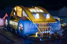 Bug-Eyed Eateries - The Quirky VW Beetle Restaurant/House Merges the Best of Both Worlds