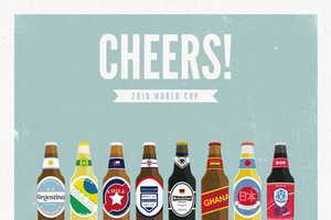 Moxy Creavtive 'Cheers' Posters Raise a Toast to Top World Cup Teams