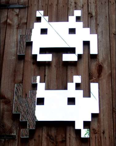 space invader mirrors