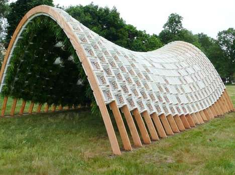 Edible Eco Structures - The Living Pavilion is a Garden Design Made of Old Milk