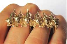 Canine Gangsta Rings - The VeraMeat Jewelry Collection is for the Whimsically Quirky