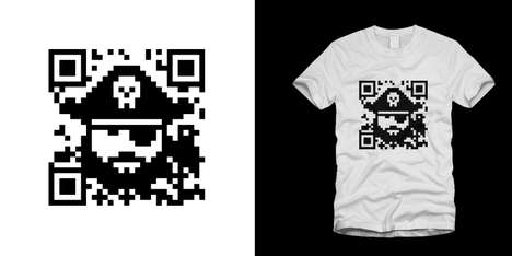Pixelated Pirate Fashion - The Augmented Reality T-Shirt is One Clever Design