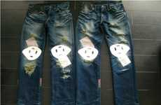 People-Faced Pants - The Levi's and CLOT 'Black Sun Survivor' Jeans are Bizarre