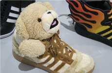 Stuffed Animal Shoes - The Teddy Bear Adidas from Jeremy Scott Bring Back the Comfort of the Crib