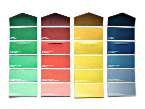 Color Swatch Business Cards