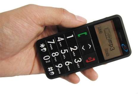 Alarming Old Folks' Phones - The Senior Citizen Cell Phone Has Big Numbers and a Panic Button