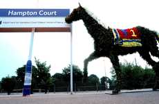 Kempton Park Flower Horse Prances Onto Hampton Court