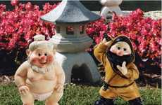Far East Lawn Decor - The Sumo & Ninja Garden Gnomes Keep Your Yard Safe from Samurai