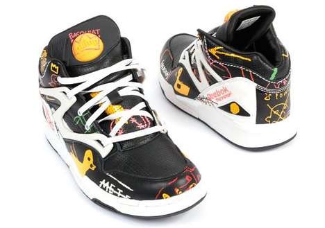 Neo-Impressionist Sneakers - The Basquiat Reebok Pump Omni Lite Features Scribbled Details
