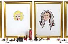 Beauty Supply Portraits - QVC Beauty Month Immortalizes Icons Using Makeup