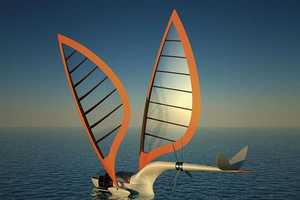 Sailing Aircraft by Yelken Octuri Can Soar in the Sky or Sail