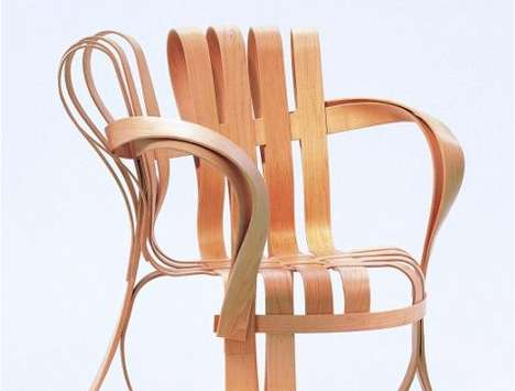 gehry cross armchairs for knoll