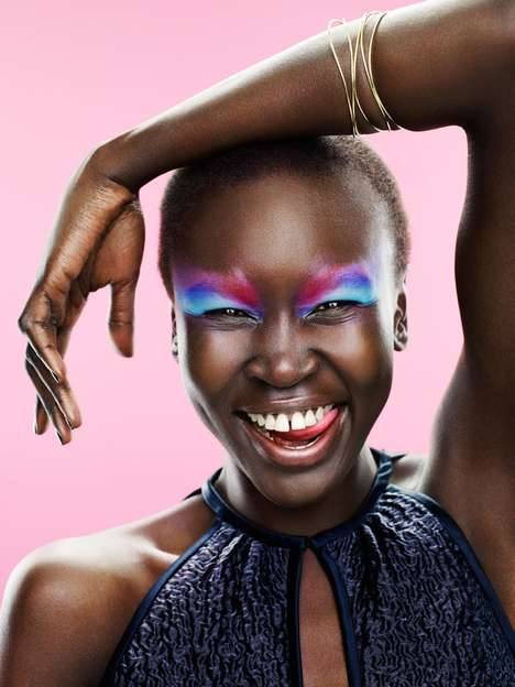 Alek Wek Dutch Glamour August