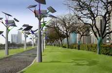 Solarific Streetlights - Vinaccia Integral Design's Solar Trees Offer Eco-Friendly Illuminatio