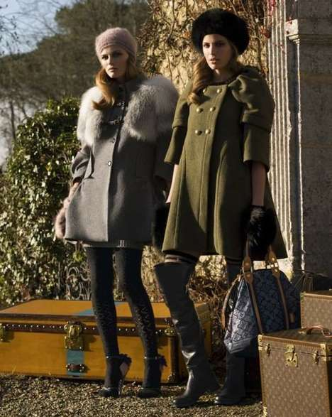 Poised Fashionista Spreads - The Louis Vuitton Pre-Fall 2010 Campaign is Comfortable & Chic