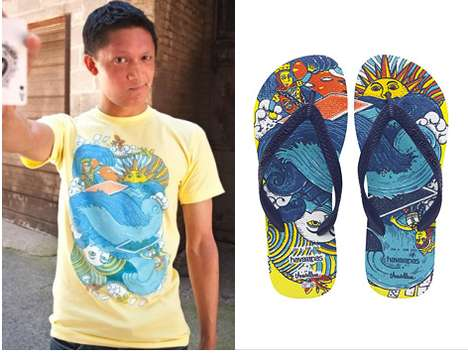 threadless havaianas collaboration