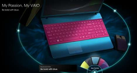 Laptop Color Mash-Ups - The Vaio E Color Combo Site Allows You to Be the Creator