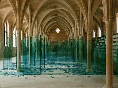 Shattered Glass Cathedrals - Claudio Parmiggiani Makes Conceptual Art