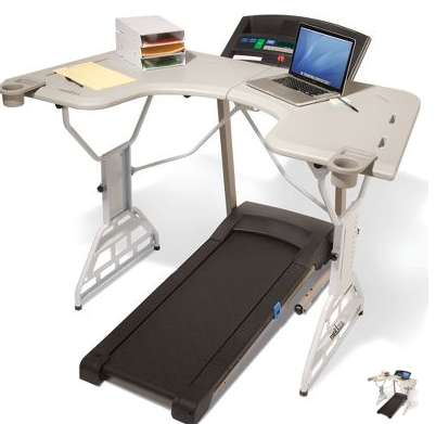 Hammacher Schlemmer Treadmill Desk