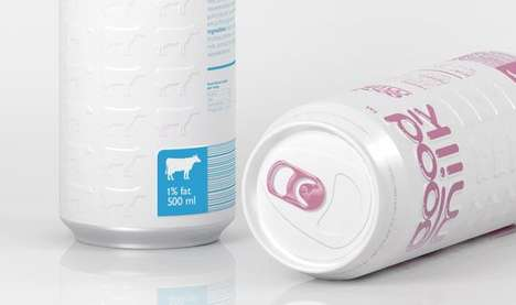 Haute Milk Packaging - 'Good Milk' is Available in Aluminum Cans & Tetra Pak