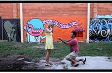 Street Art Proposals - This Graffiti Marriage Proposal Combines Art and Romance