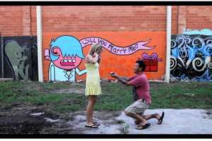This Graffiti Marriage Proposal Combines Art and Romance